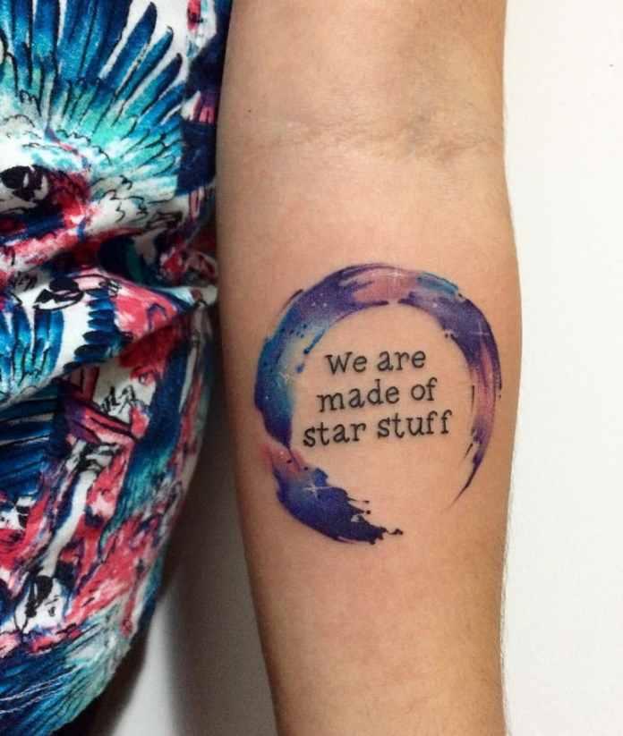 Tatuaje: Estamos hechos de materia estelar