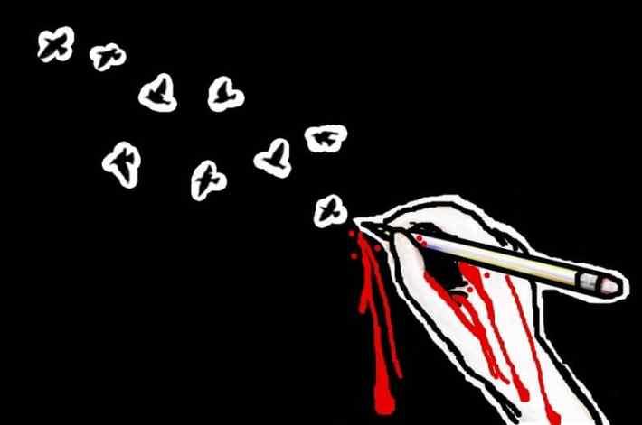 escrito, rebelion y sangre