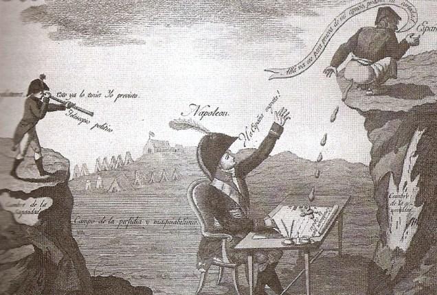 parodia a las guerras napoleonicas