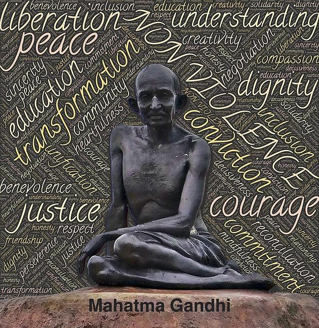 Gandhi defensor de los DDHH