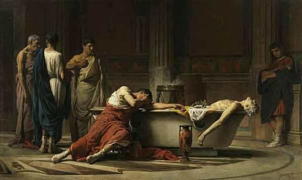 La pintura del suicidio de Séneca