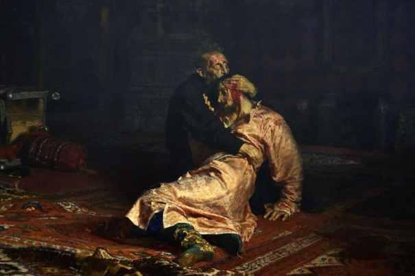 Ivan el terrible asesinando al zarévich Iván