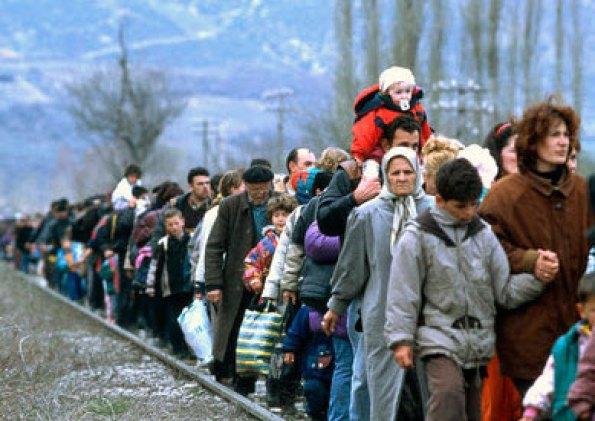 refugiados kosovares