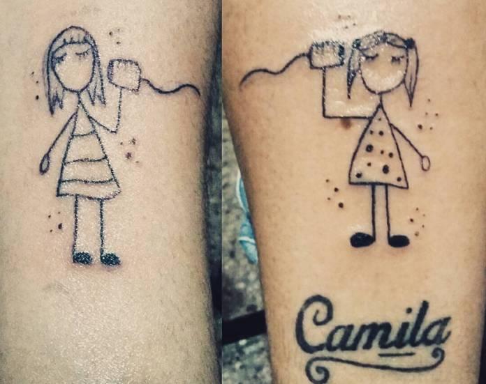 Tatuaje de 2 personas