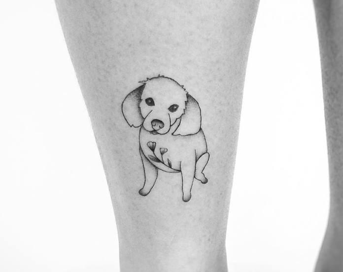 tatuaje de mascotas simple