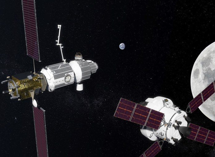 capsula orion en la luna