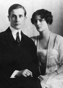 Feliz Yusupov y su esposa