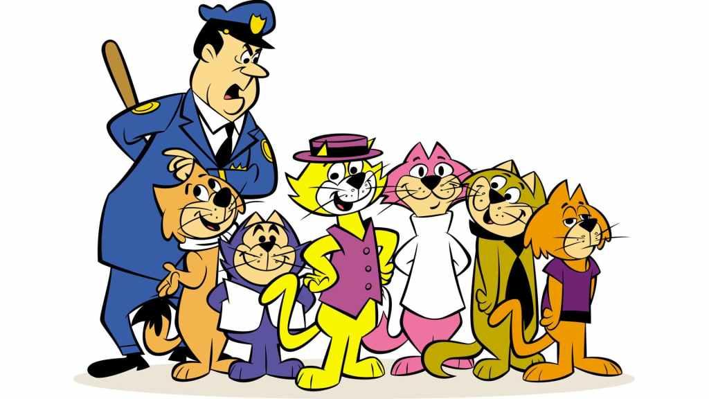 Don Gato y su pandilla junto al oficial Matute