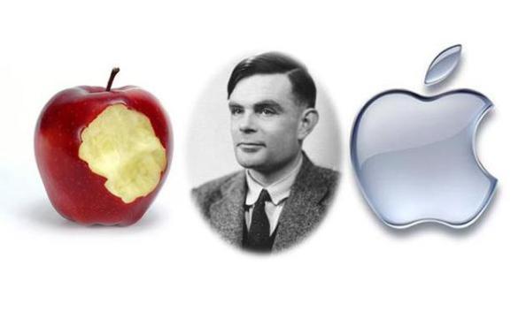 manzana apple representa a Alan Turing