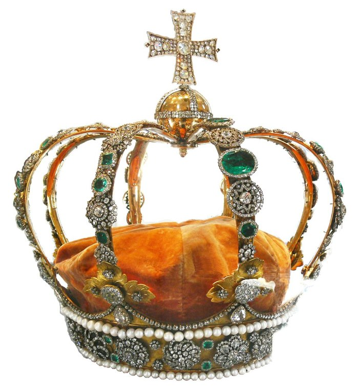 corona con piedras presiosas