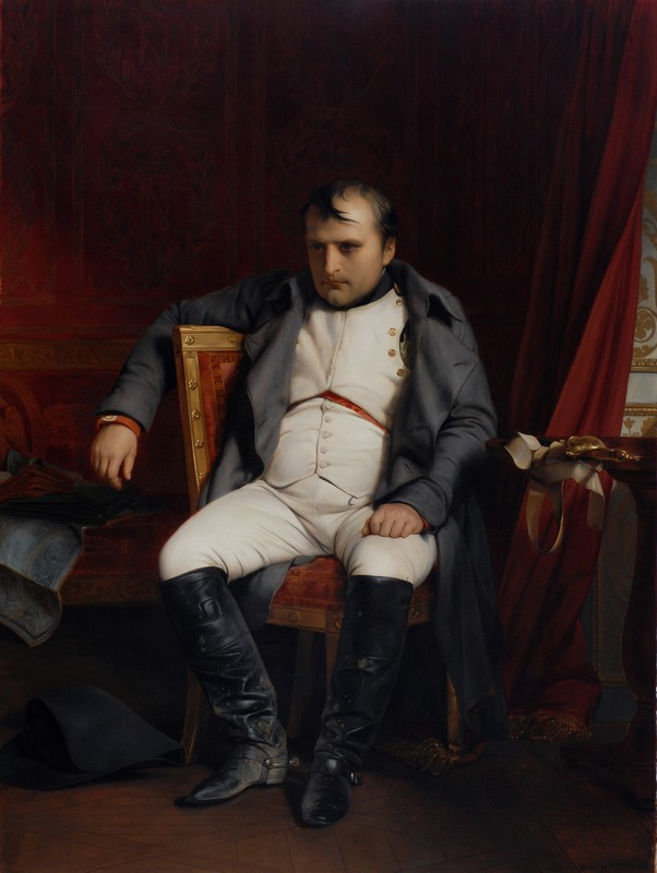 Napoleón Bonaparte en Fontainebleau