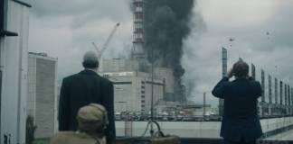 escena explosión nuclear serie Chernóbil