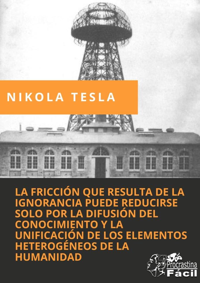 el conocimiento frase de Tesla