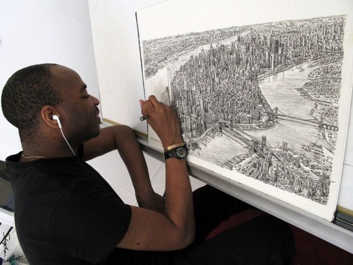 Stephen Wiltshire dibujando