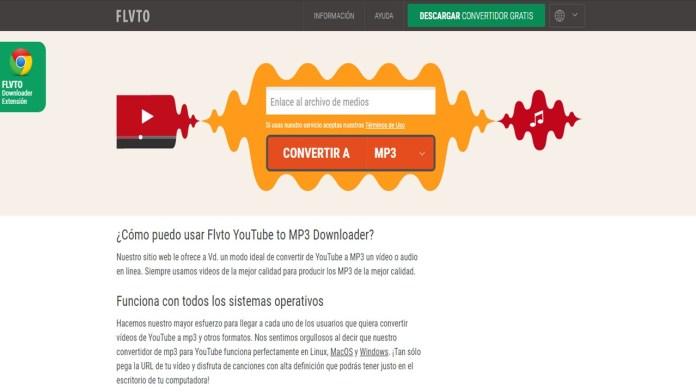 FLVTO convertidor de vídeos de YouTube