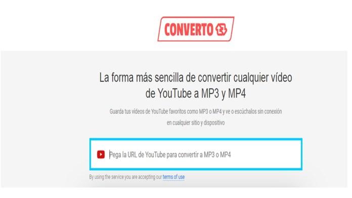 convertidores de vídeos de YouTube Converto