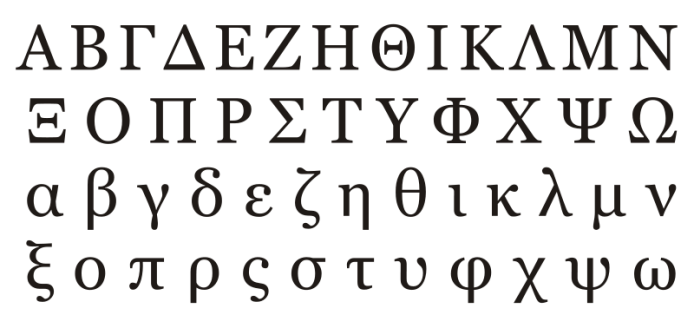 Alfabeto griego otro idioma
