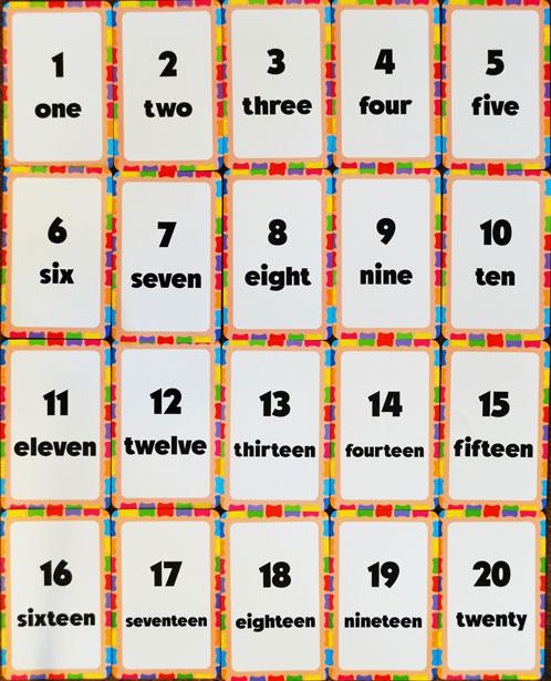 Números en inglés flashcard