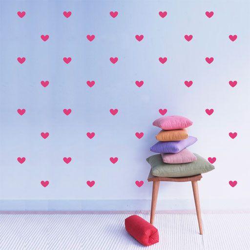 pared de corazones 56