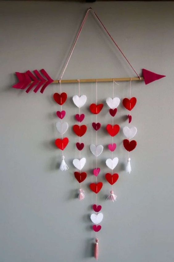 pared de corazones 61