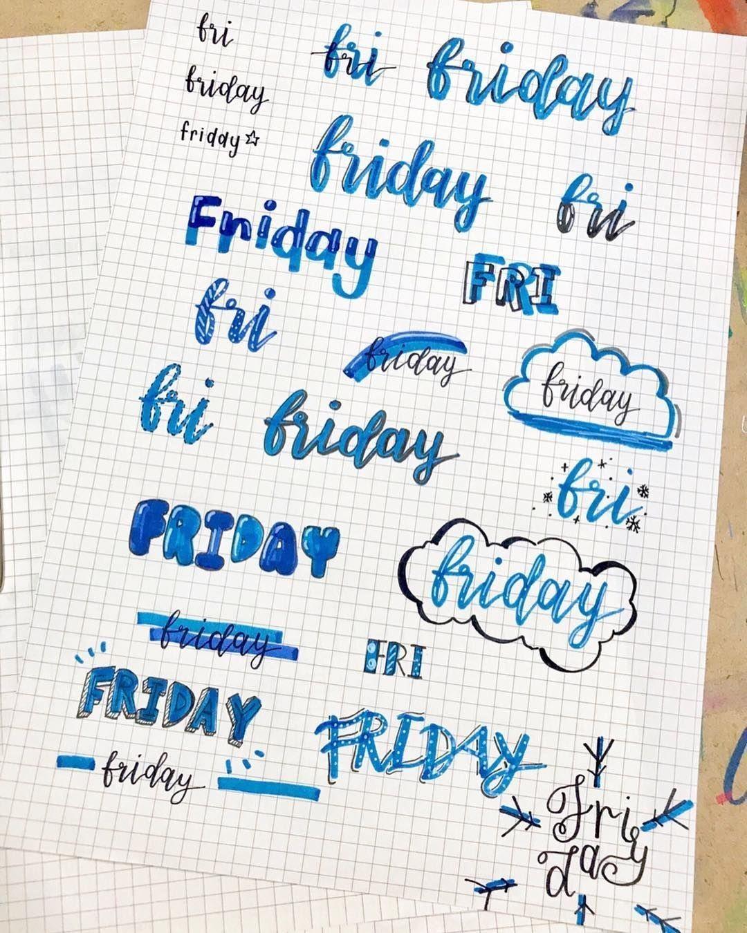 titulos de viernes en azul 1