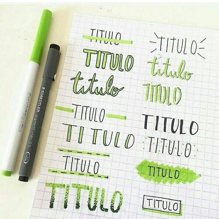 titulos en verde