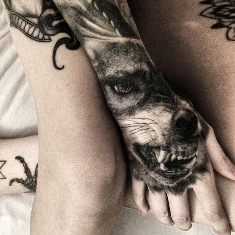 Tatuaje de lobo feroz 11