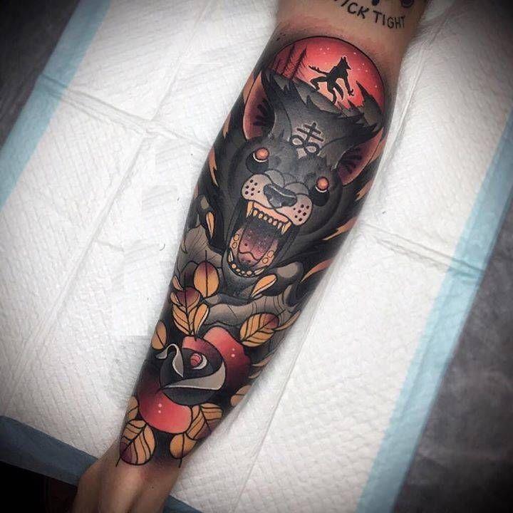Tatuaje de lobo feroz