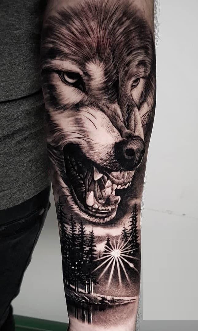 Tatuaje de lobo feroz 2