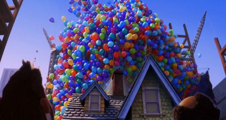 Casa do Up! Altas Aventuras com muitos balões