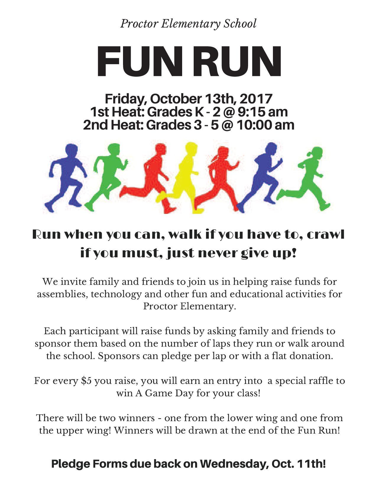 Fun Run Pledge Form