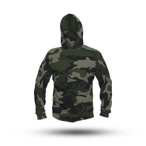 Camouflage Performance HooDoo Camo Green