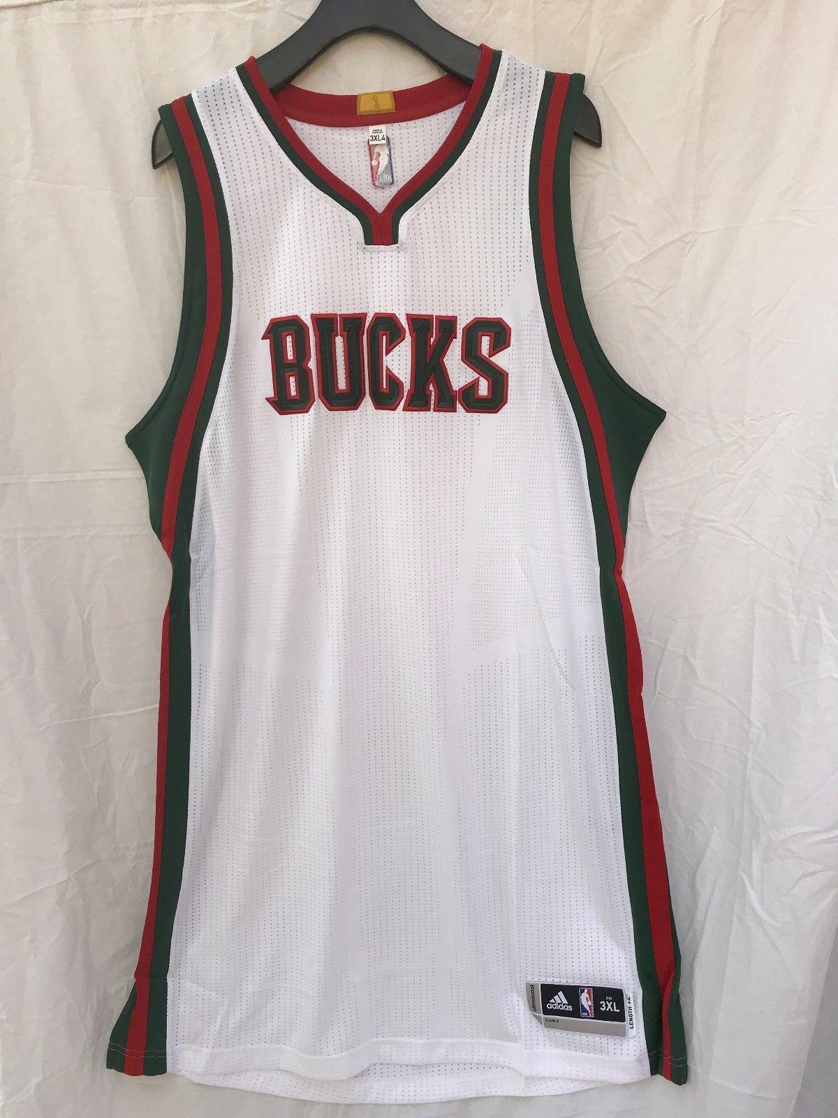 59ef7a42e38 Milwaukee Bucks adidas Rev30 Blank Home White NBA Basketball Jersey  (2015-2017)