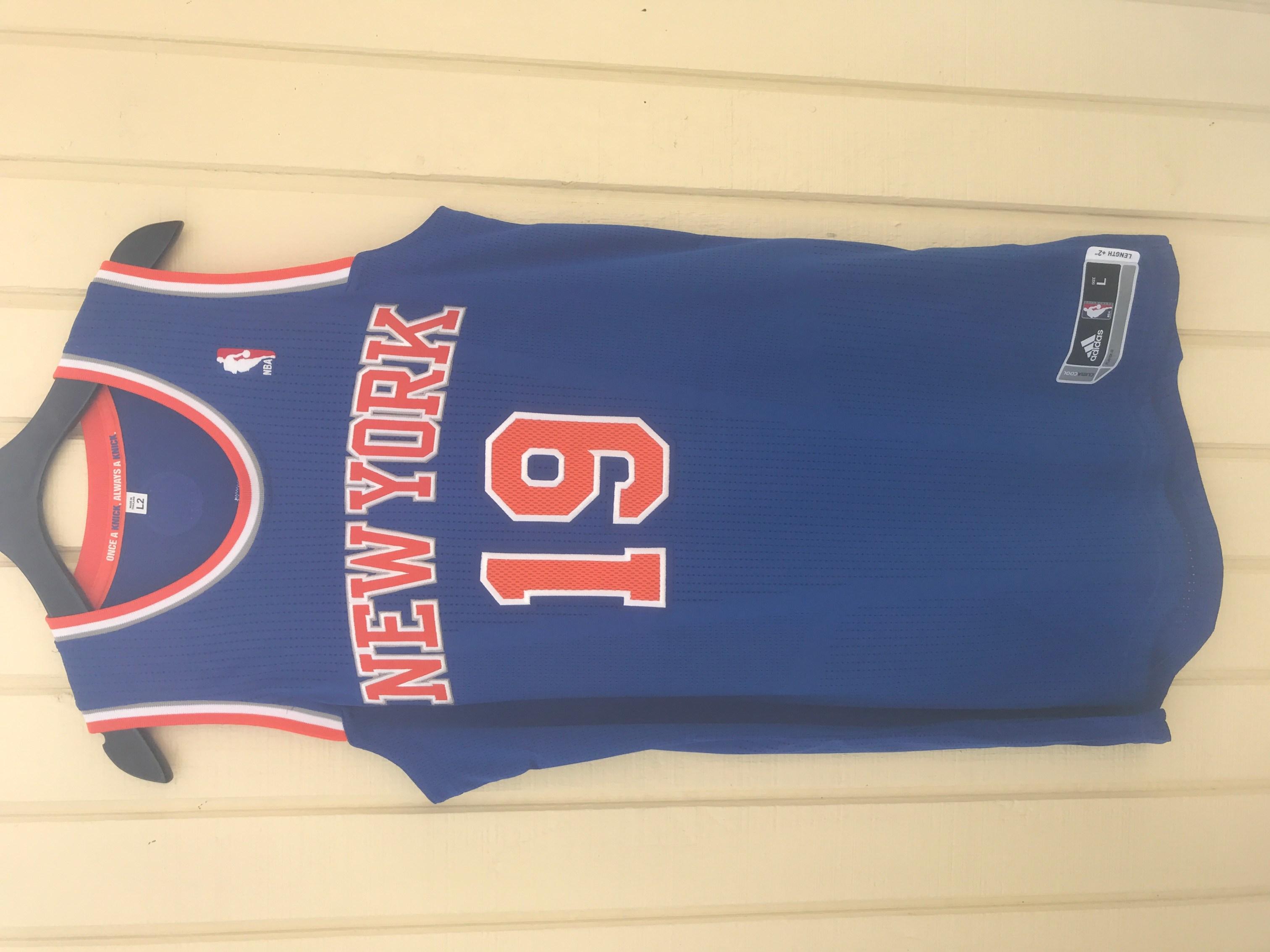 fd63d26c163 New York Knicks NYK  19 Willis Reed Custom NBA adidas rev30 On Court Road  Jersey