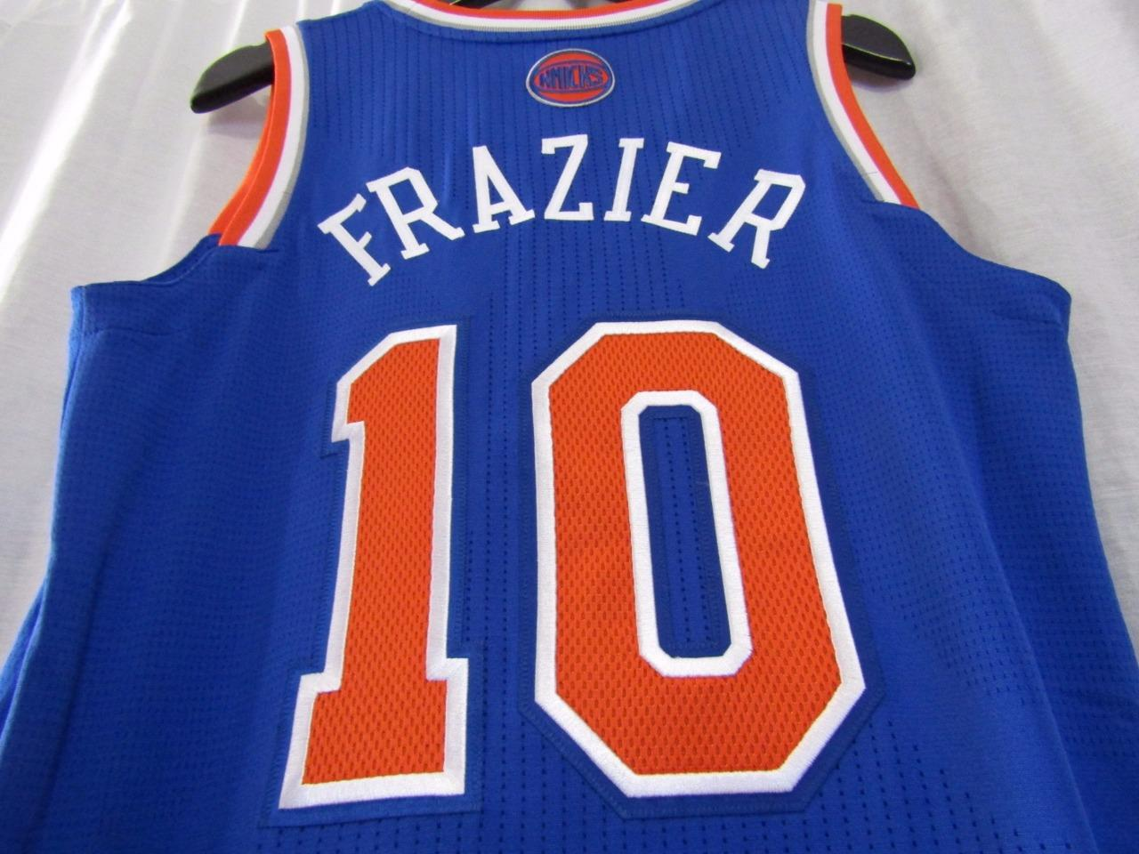 hot sale online 2b09e 2ed78 New York Knicks NYK #10 WALT CLYDE FRAZIER Custom NBA adidas rev30 On Court  Road Jersey