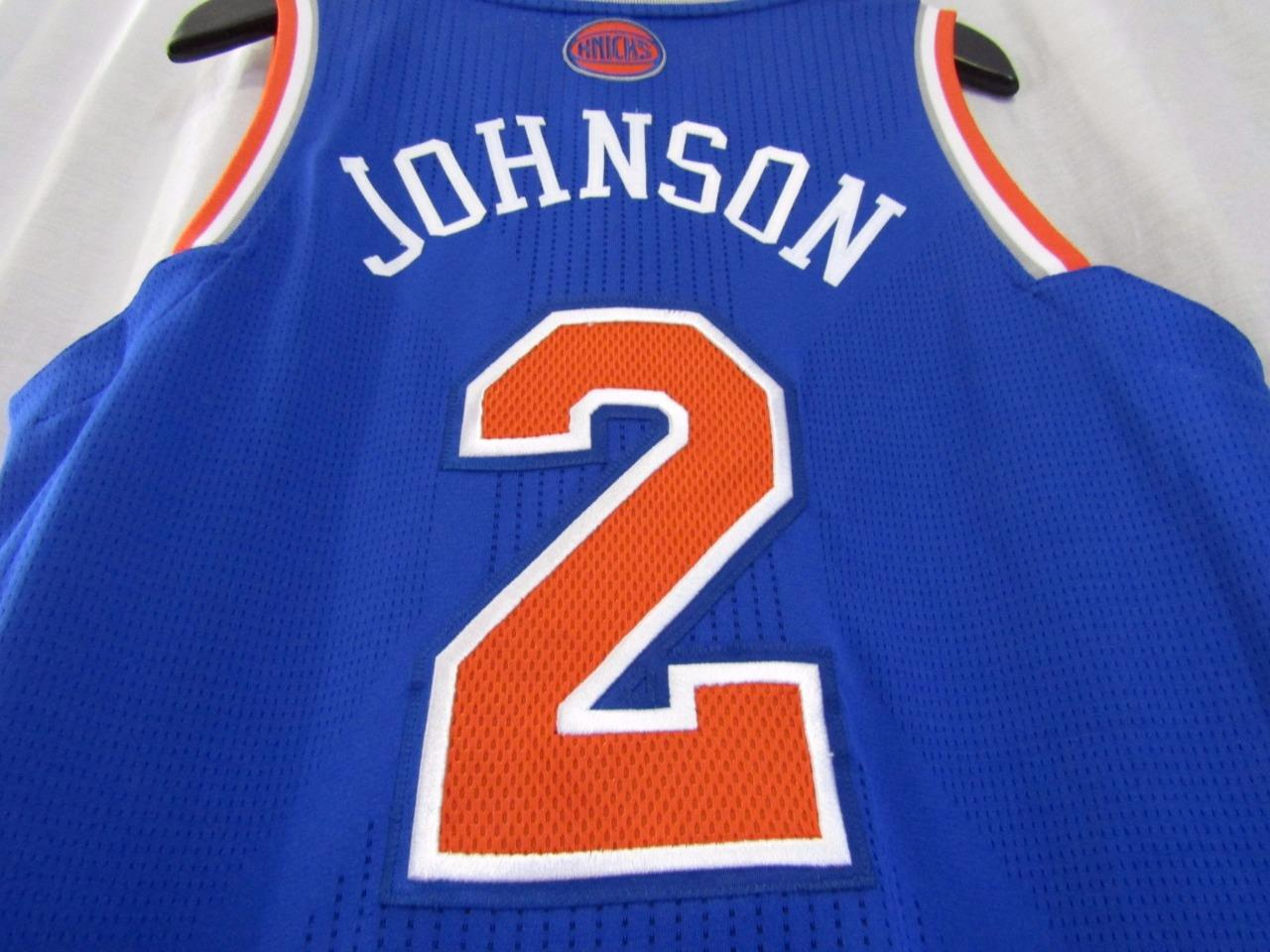 new products 7e3db c289f New York Knicks NYK #2 LARRY JOHNSON Custom NBA adidas rev30 On Court Road  Jersey