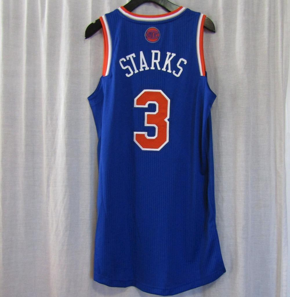 more photos 903b9 47177 New York Knicks NYK #3 John Starks Custom NBA adidas rev30 On Court Road  Jersey