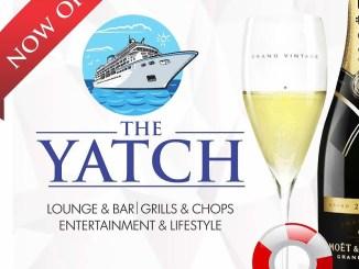 The Yatch Lounge ......Lounge & Bar......Grills & Chops......Entertainment & Lifestyle. The Yatch Lounge is located inside Kenfeli Palm Beach Hotel, Barnawa, Kaduna. Tel: 08037202292. IG : @theyatchlounge TWITTER : @theyatchlounge