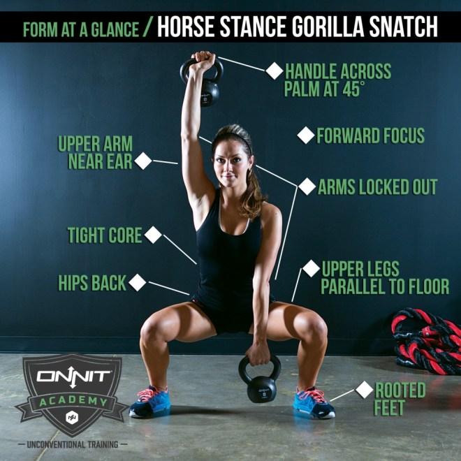 Form at a Glance: Horse Stance Gorilla Snatch