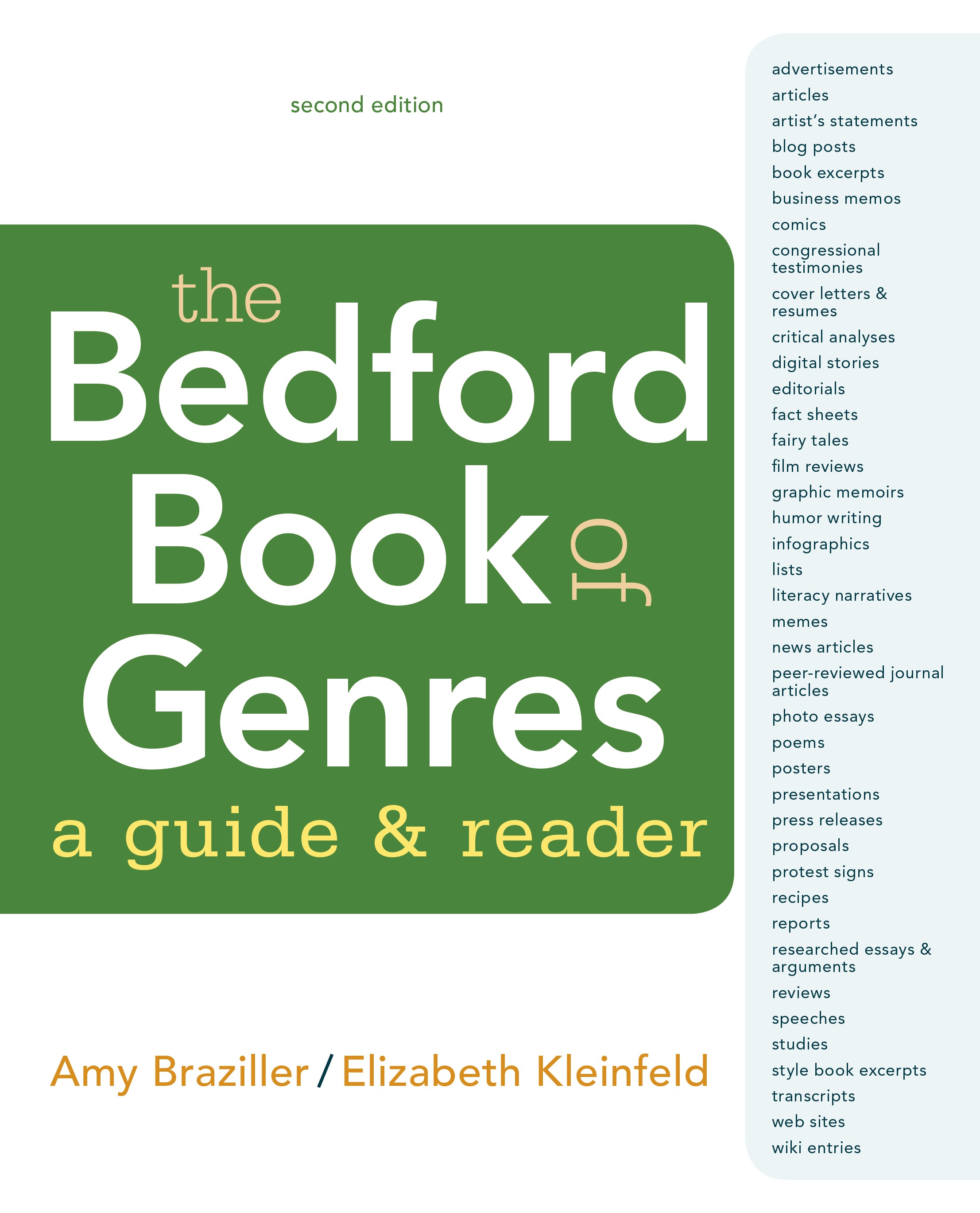 The Bedford Book of Genres A Guide and Reader 9781319058470  Macmillan Learning