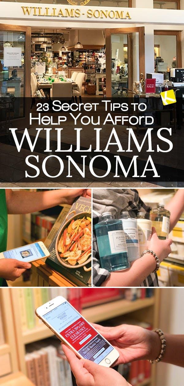 Williams Sonoma Cool Springs : williams, sonoma, springs, Secret, Afford, Williams-Sonoma, Krazy, Coupon