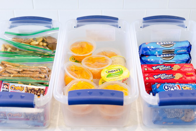 organise your pantry with a school lunch prep station