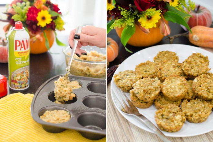Cook stuffing in muffin tins for easy serving and delicious crispy edges.