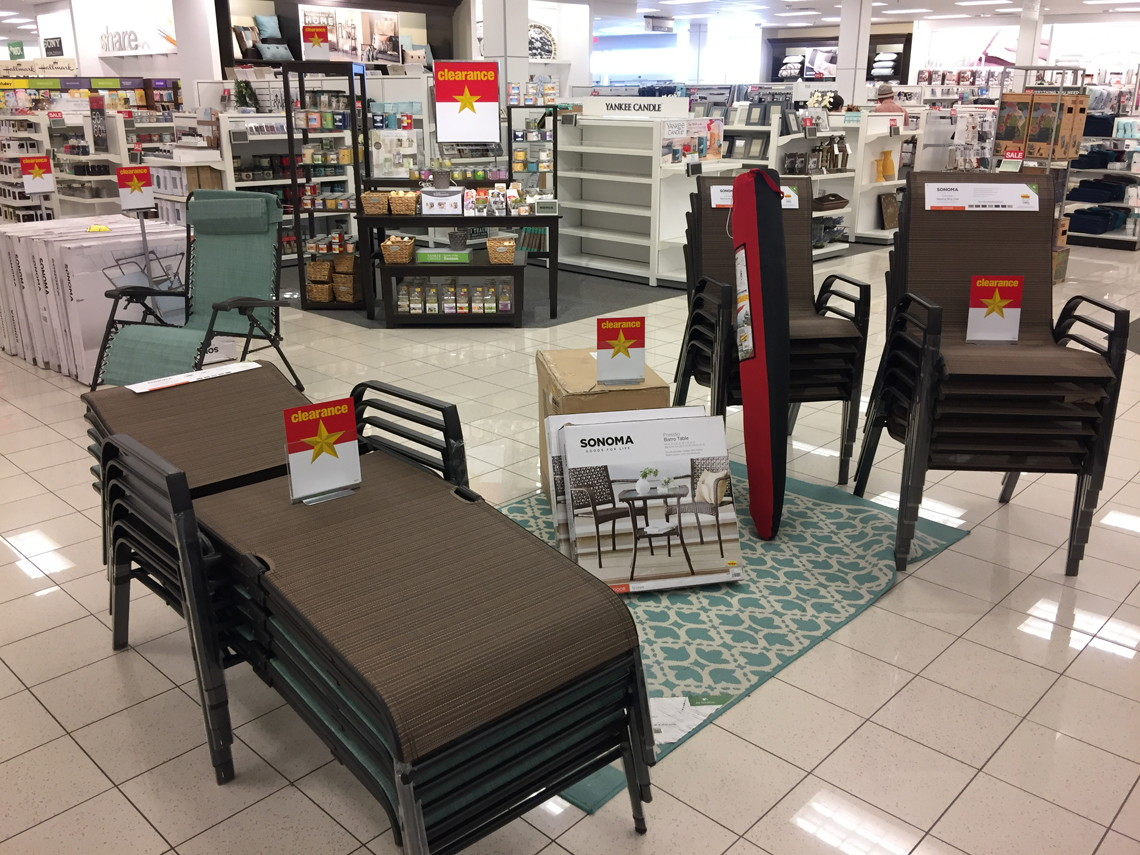 kohls outdoor chair cushions linens and covers for weddings kohl 39s 70 off patio furniture clearance 43 10 50