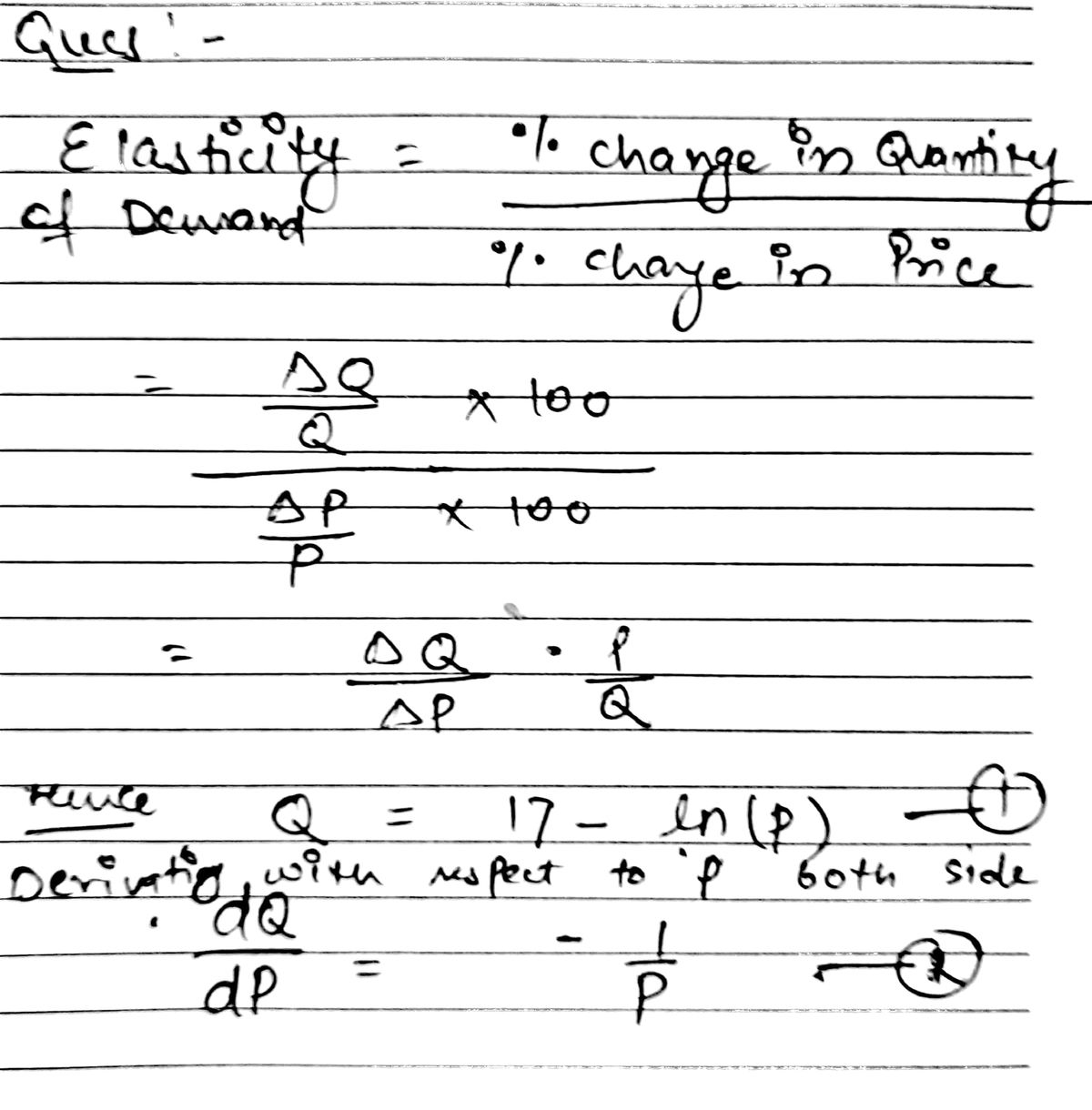 Answered Find The Elasticity Of Demand E For The