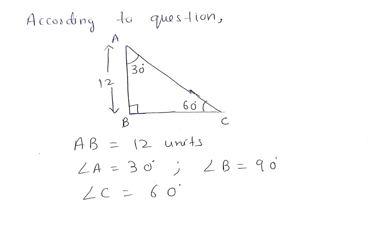 Answered Find The Remaining Sides Of A