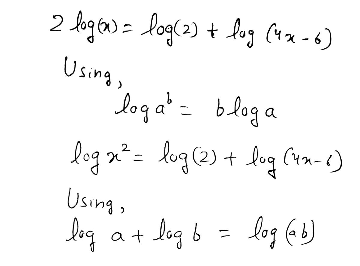 Answered Solve The Logarithmic Equation For X