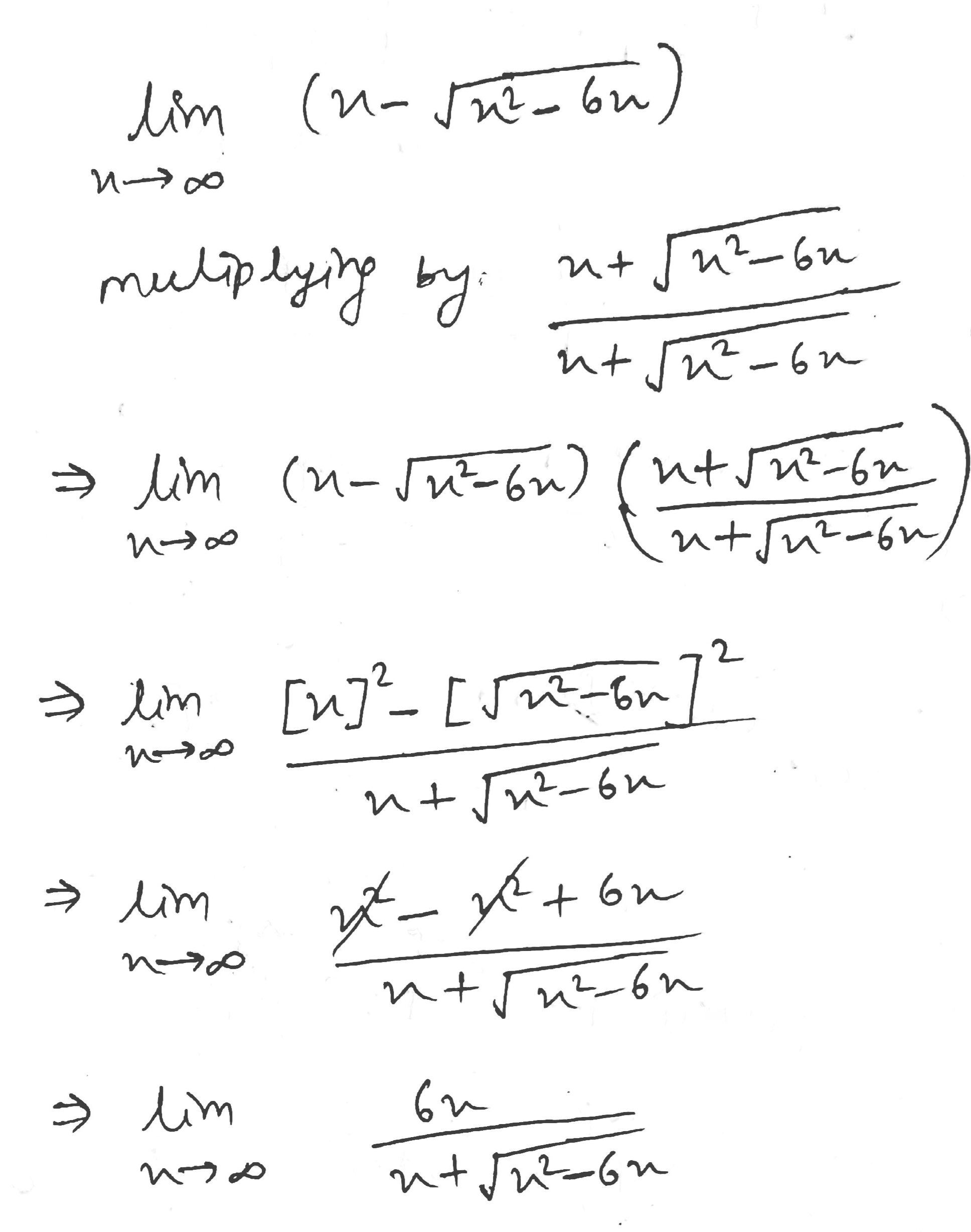 Answered Determine The Limit At Infinity