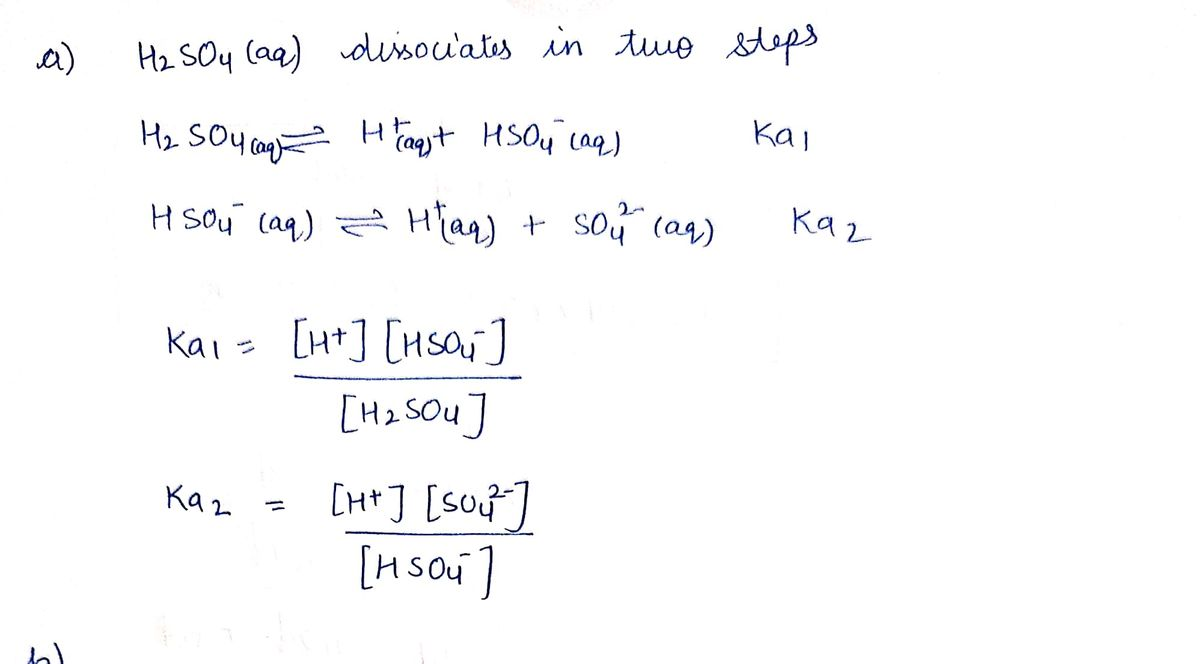 Answered Write Equilibrium Expressions For The