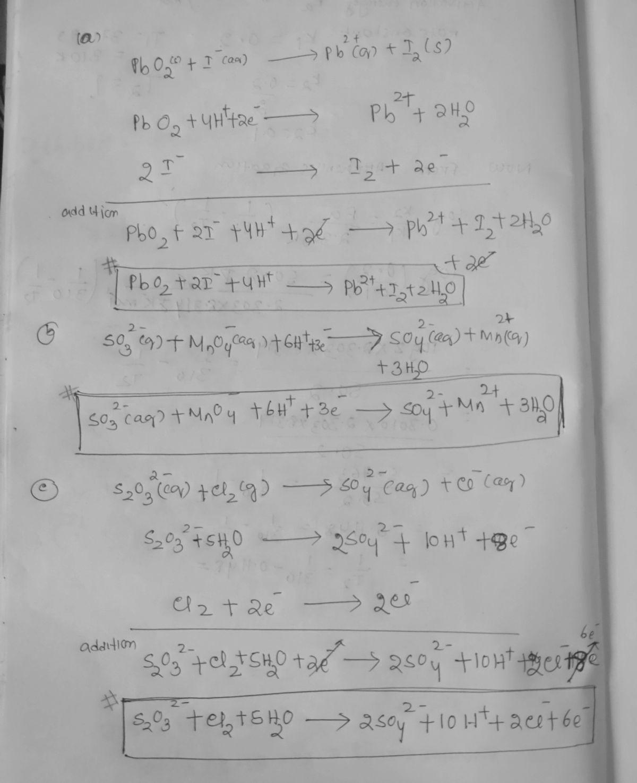 Answered 39 Balance Each Redox Reaction